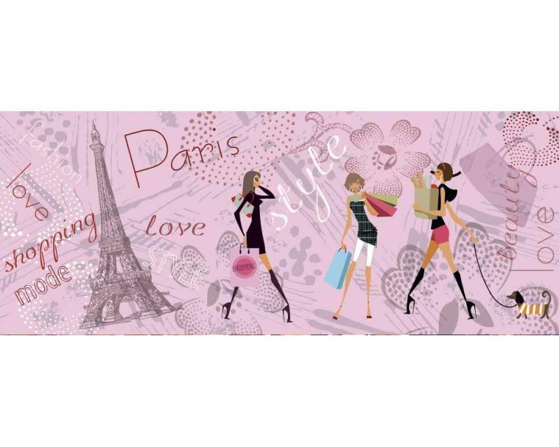 Panoramatické vliesové fototapety na zeď Pařížský styl | MP-2-0331 | 375x150 cm - Fototapety vliesové