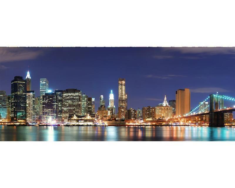 Panoramatické vliesové fototapety na zeď Manhattan | MP-2-0349 | 375x150 cm - Fototapety vliesové