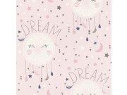 Papírová tapeta růžové hvězdičky Bambino 248753 Tapety Rasch - Tapety Aldora