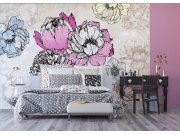 Vliesová fototapeta Květiny v abstrakci FTNXXL-1230 | 360x270 cm Fototapety vliesové