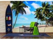Vliesová fototapeta Palmy na pláži FTNXXL-1234 | 360x270 cm Fototapety vliesové