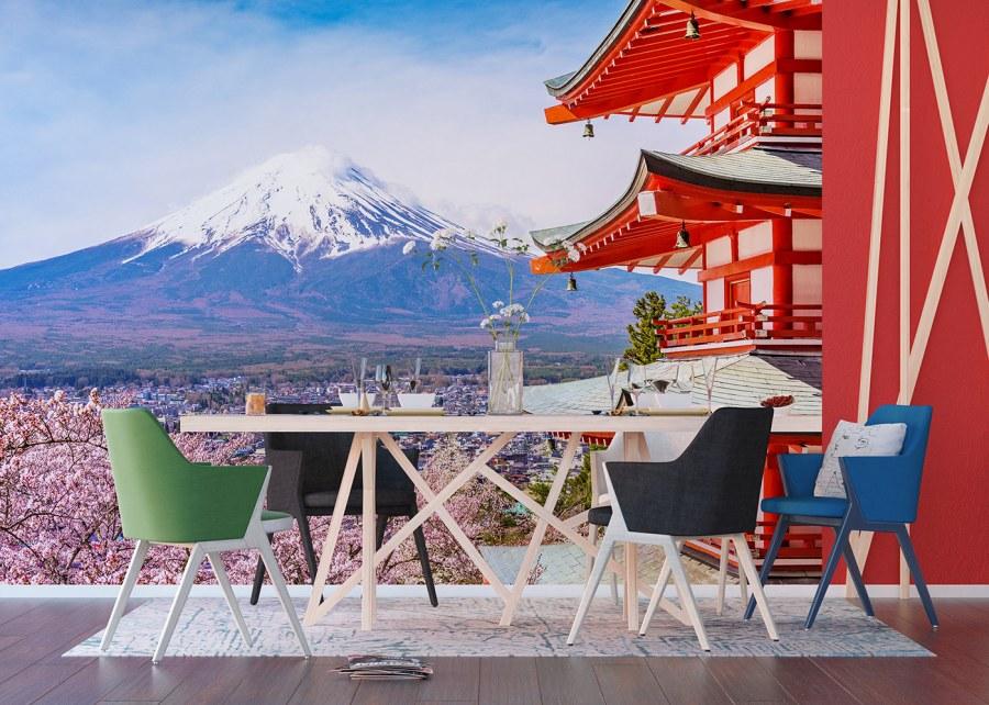 Vliesová fototapeta Japonská hora FTNXXL-1238 | 360x270 cm - Vliesové fototapety AG