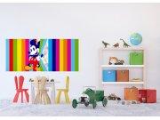 Vliesová fototapeta Duhový Mickey Mouse FTDNH-5380 | 202x90 cm Fototapety pro děti