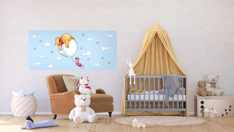 Vliesová fototapeta Kreslený Medvídek Pú FTDNH-5381   202x90 cm - Fototapety pro děti