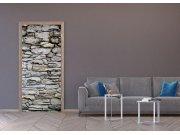 Vliesová fototapeta Kamenná zeď hnědá FTNV-2945 | 90x202 cm Fototapety na dveře