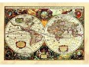 Samolepicí dekorace Stará mapa SM-3434, rozměry 42,5 x 65 cm Samolepící dekorace na zeď
