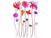 Samolepicí dekorace Květiny SM-3438, rozměry 42,5 x 65 cm Samolepící dekorace na zeď
