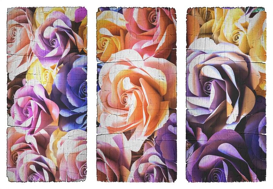 Samolepicí dekorace Květiny v obraze SM-3441, rozměry 42,5 x 65 cm - Samolepící dekorace na zeď