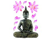 Samolepicí dekorace Budha SM-3447, rozměry 42,5 x 65 cm Samolepící dekorace na zeď