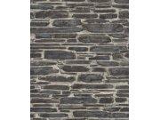 Moderní omyvatelná vliesová tapeta Kamenná zeď hnědá Tapetenwechsel 863437   lepidlo zdarma Tapety Rasch - Tapety Tapetenwechsel