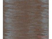 Hnědá tapeta vodorovný šedý vzor 763133 Výprodej