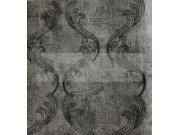 Luxusní tapeta Elize antracitová černé ornametnty 6623 Tapety Rasch - Tapety Brilliant