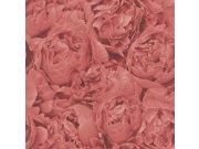 Vliesová tapeta Freundin 464245, růžovočervená s motivem růže Tapety Rasch - Tapety Freundin