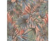 Vliesová tapeta Freundin 465235, modrozelená s palmovými listy Tapety Rasch - Tapety Freundin