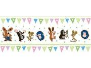 Dětská vliesová bordura Krtek 6120005 | 23,5 cm x 3 m Dětské tapety - Tapety Krteček