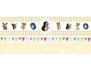 Dětská vliesová bordura Krtek 6140004 | 23,5 cm x 3 m Dětské tapety - Tapety Krteček
