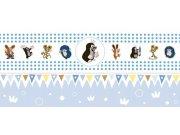 Dětská vliesová bordura Krtek 6140001 | 23,5 cm x 3 m Dětské tapety - Tapety Krteček