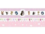 Dětská vliesová bordura Krtek 6140002 | 23,5 cm x 3 m Dětské tapety - Tapety Krteček