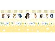 Dětská vliesová bordura Krtek 6140003 | 23,5 cm x 3 m Dětské tapety - Tapety Krteček