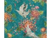 37464-1 Moderan flis tapeta za zid Asian Fusion, 0,53 x 10 m | Ljepilo besplatno AS Création