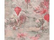 37466-2 Moderan flis tapeta za zid Asian Fusion, 0,53 x 10 m | Ljepilo besplatno AS Création