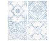 Samolepicí pvc dlažba modrobílé ornamenty 2745053 Samolepící dlažba