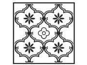 Samolepicí pvc dlažba černobílý ornament 2745052   30,4×30,4 cm Samolepící dlažba
