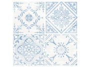 Samolepicí pvc dlažba modrobílý ornament 2745053   30,4×30,4 cm Samolepící dlažba