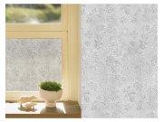 Samoljepljiva folija transparentna Lišće 121-004 | širina 122 cm Za staklo