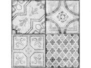 Samolepicí podlahové pvc čtverce šedobílá retro 2745043 Samolepící dlažba