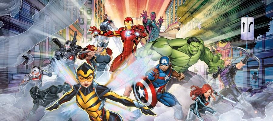 Vliesová fototapeta Avengers FTDNH5397   90 x 202 cm - Fototapety pro děti