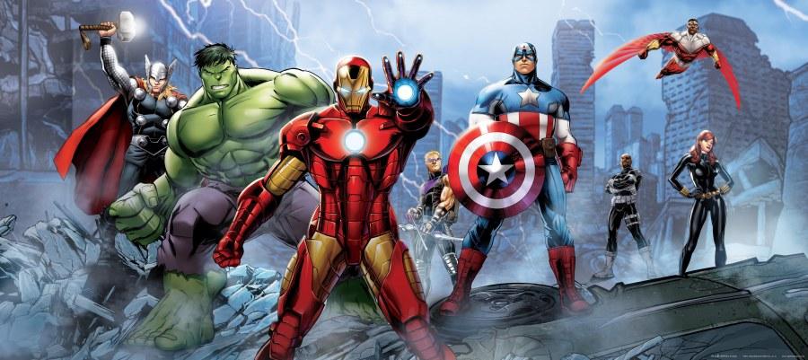 Vliesová fototapeta Avengers FTDNH0628   90 x 202 cm - Fototapety pro děti