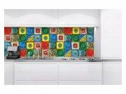 Samolepicí fototapeta do kuchyně Lisabonské kachličky KI-180-107 | 180x60 cm Samolepící fototapety - Na kuchyňskou linku