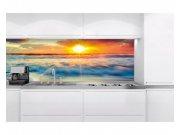 Samolepicí fototapeta do kuchyně Západ slunce KI-180-109 | 180x60 cm Samolepící fototapety - Na kuchyňskou linku