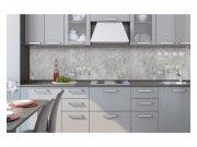 Samolepicí fototapeta do kuchyně Šedý beton KI-260-106 | 260x60 cm Samolepící fototapety - Na kuchyňskou linku