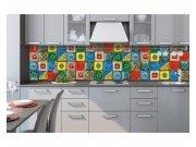 Samolepicí fototapeta do kuchyně Lisabonské kachličky KI-260-107 | 260x60 cm Samolepící fototapety - Na kuchyňskou linku
