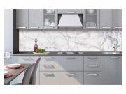 Samolepicí fototapeta do kuchyně Mramor bílý KI-260-108 | 260x60 cm Samolepící fototapety - Na kuchyňskou linku