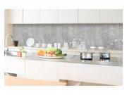 Samolepicí fototapeta do kuchyně Beton šedý KI-350-106 | 350x60 cm Samolepící fototapety - Na kuchyňskou linku