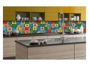 Samolepicí fototapeta do kuchyně Lisabonské kachličky KI-350-107 | 350x60 cm Samolepící fototapety - Na kuchyňskou linku