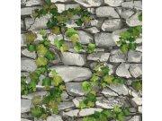 Vinylová omyvatelná tapeta kámen s břečťanem 5695-10 | Lepidlo zdarma Tapety Vavex - Tapety Vavex 2022