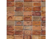 Vinylová omyvatelná tapeta červenooranžové cihly 5678-06 | Lepidlo zdarma Tapety Vavex - Tapety Vavex 2022