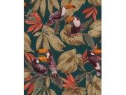 Vliesová přírodní omyvatelná tapeta ptáci na listech Denzo II 807509 | Lepidlo zdarma Tapety Rasch - Tapety Denzo