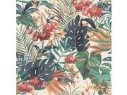 Vliesová přírodní omyvatelná tapeta s listy Denzo II 833126 | Lepidlo zdarma Tapety Rasch - Tapety Denzo