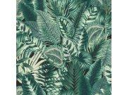 Vliesová přírodní omyvatelná tapeta zelené listy Denzo II 833942 | Lepidlo zdarma Tapety Rasch - Tapety Denzo