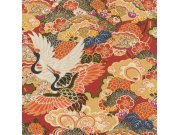 Vliesová omyvatelná tapeta v japonském vzoru Kimono 409345 | Lepidlo zdarma Tapety Rasch - Tapety Kimono
