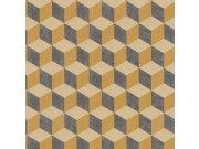 3D retro vliesová tapeta 220367 Geometry | Lepidlo zdarma Tapety Vavex - Tapety Botanica
