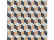 3D retro vliesová tapeta 220365 Geometry | Lepidlo zdarma Tapety Vavex - Tapety Botanica