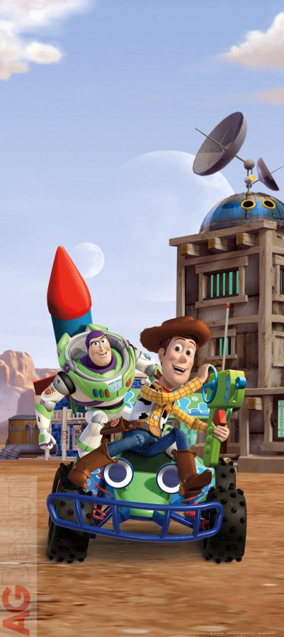 Vliesová fototapeta Toy Story FTDNV-5439 | 90x202 cm - Fototapety pro děti