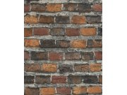 Vliesová tapeta hnědá cihlová zeď Factory IV 428063 | Lepidlo zdarma Tapety Rasch - Tapety Factory