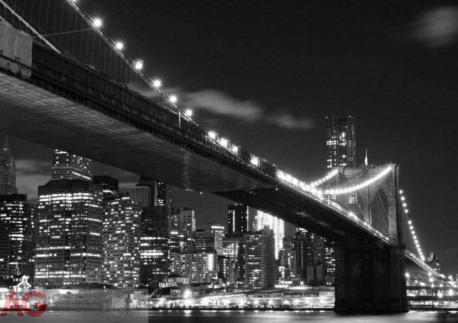 Papírová fototapeta Bridge in Brooklyn AG design FTS-1305, rozměry 360 x 254 cm
